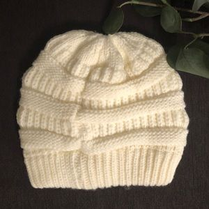 C.C Accessories - C.C Womans Beanie Ivory Cream